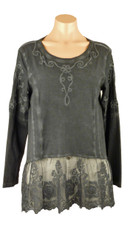 Gretty Charcoal Grey Long Sleeve Top