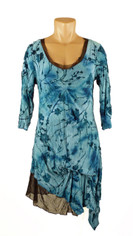 Pretty Pretty Papillion Larimar Blue Tunic
