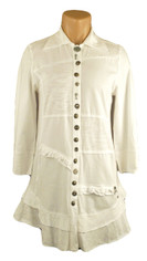 Neon Buddha Detailed Buttons Tunic in White