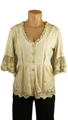 Gretty Jacket Top Creamy Beige