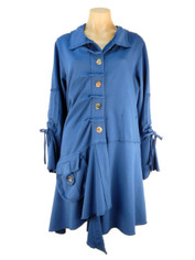 CMC Color Me Cotton Alissa Coat Royal Blue