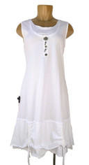 Neon Buddha Stargazer Sleeveless Dress White