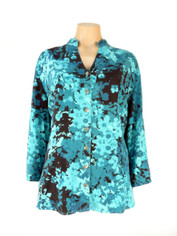 Tencel Blouse in Alana Blues Print by Tianello