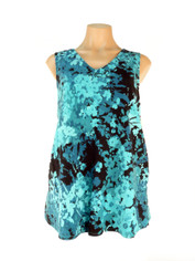 Tencel Sleeveless Top in Alana Blues Print by Tianello