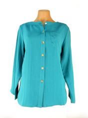Fridaze Linen Blouse Turquoise