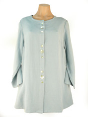 Fridaze Linen Button Up Shirt Linen Light Blue