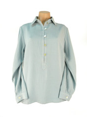 Fridaze Linen Pullover Shirt Blue