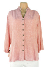 Tencel Jacquard Joycie Shirt in Chalk Pink by Tianello