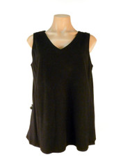 Tencel Sleeveless Becka Top in Black by Tianello