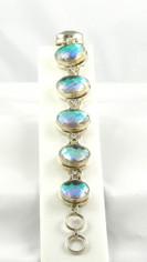 Huge White Mystic Topaz Bracelet