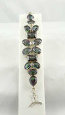 Mystic Green Purple Topaz Bracelet