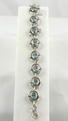 Ice Blue Topaz Silver Bracelet