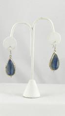Exceptional Blue Kyanite Large Teardrop Earrings