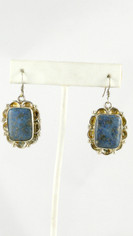 Beautiful Lapis & Silver Earrings
