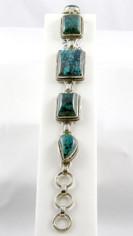 Chrysocolla & Sterling Silver Bracelet