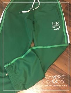 HKFD Green Striped Sweatpants