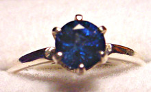 Montana Sapphire 6 prong solitaire ring