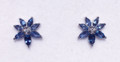 Montana Yogo Sapphire & Diamond Flower Earrings 14KW