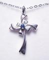#24 - Montana Yogo Sapphire Cross Pendant