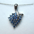 Montana Yogo Sapphire 14K White Gold Grape Bunch Pendant