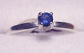#35 - Montana Yogo Sapphire  4 Prong Solitaire Ring