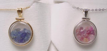 Montana Sapphire Pink or Yogo Sapphire Locket Pendant