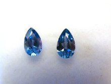 Montana Yogo Sapphire Pear or Teardrop Set of Two .49 ct Total