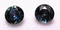 Montana Sapphire Round Brilliant Matched Pair set of Cut Stones