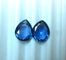 Montana Yogo Sapphire Loose Stones Pair of Pear or Teardrop shape 1.90 ct total