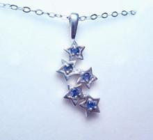 Montana Yogo Sapphire 5 Star Sterling Silver Pendant