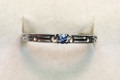 Montana Yogo Sapphire Single Stone Band Ring Sterling Silver