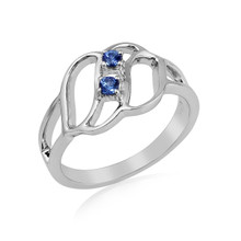 Montana Yogo Sapphire 2 Stone Fashion Sterling Silver Ring