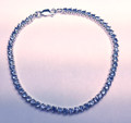 Montana Yogo Sapphire Sterling Silver Round Bracelet 3.14 cts