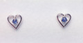 Montana Yogo Sapphire Heart Earrings Sterling Silver