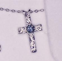 Montana Sapphire Solitaire Cross Pendant