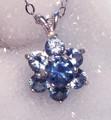 Montana Sapphire Flower Pendant