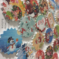 Christmas Bottle Cap Buttons
