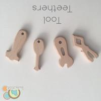 Tool Set  - 4 piece Wood Teething Pendants
