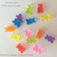 Resin Gummy Bear - 7 piece flat back