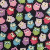 Hoot - owl print felt