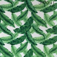 Tropic- Palm print polyester felt