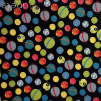 Planets - space print polyester felt