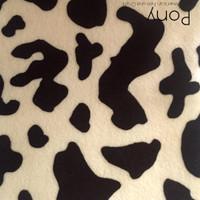 Pony print polyester felt