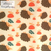 Hedgehog Village Print - XL felt sheet