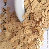 Wood Grain - 6mm Flat Matte Sequins