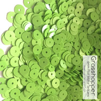 Grasshopper - 6mm Flat Matte Sequins