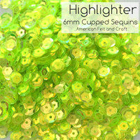 Highlighter - 6mm Cupped Sequins