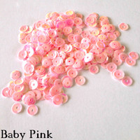 Baby Pink - 6mm Cupped Sequins