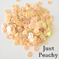 Just Peachy - 6mm Cupped Sequins