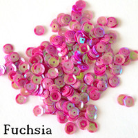 Fuchsia  - 6mm Cupped Sequins